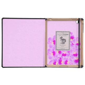 Pink Orchid Bouquet iPad Folio Case