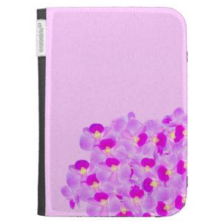 Pink Orchid Bouquet Kindle Folio Cases