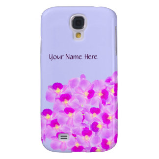 Pink Orchid Bouquet Samsung Galaxy S4 Cases