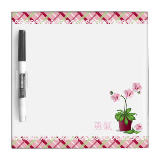 "Pink Orchid bouquet ""Courage"" Dry-Erase Board"