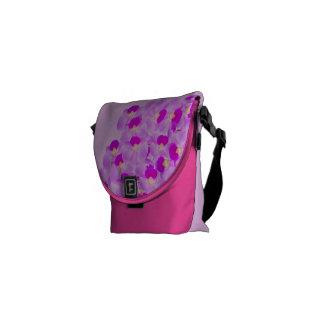 Pink Orchid Bouquet Courier Bag