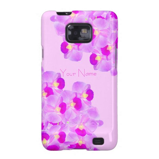 Pink Orchid Bouquet Samsung Galaxy S2 Covers
