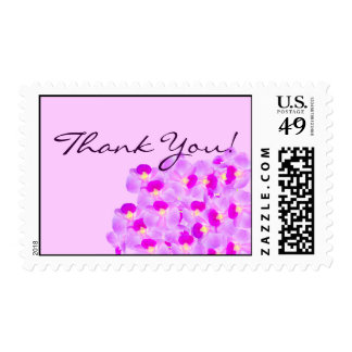 Pink Orchid Bouquet - Thank You! Postage Stamps