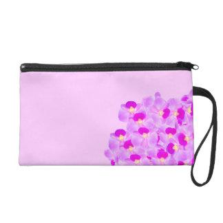 Pink Orchid Bouquet Wristlet