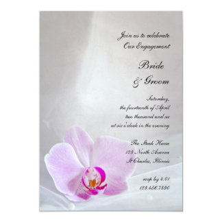 Pink Orchid Bridal Veil Engagement Party Invite