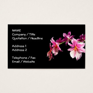 Pink Orchid. Business Card