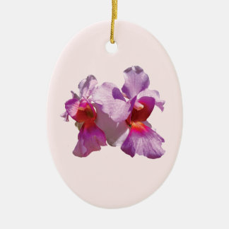 Pink Orchid Ceramic Ornament