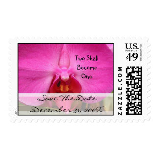 Pink Orchid Christian Wedding Save the Date Postage