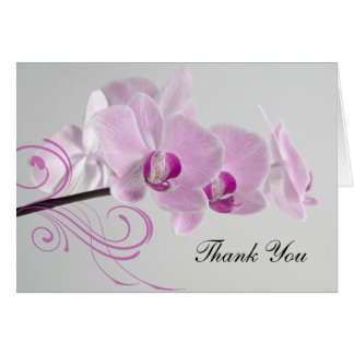 Pink Orchid Elegance Bridesmaid Thank You Card