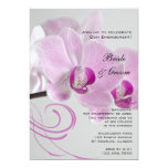 Pink Orchid Elegance Engagement Party Invitation