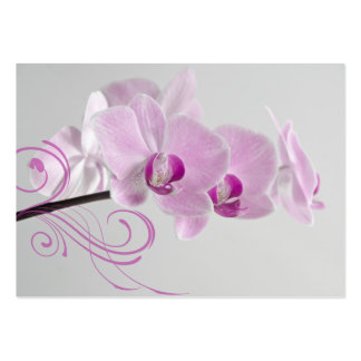 Pink Orchid Elegance Thank You Favor Tags Large Business Card