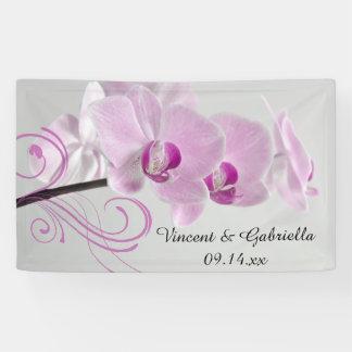 Pink Orchid Elegance Wedding Banner