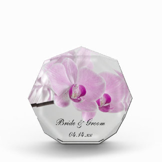 Pink Orchid Elegance Wedding Keepsake Acrylic Award
