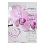 Pink Orchid Elegance Wedding Rehearsal Dinner Card
