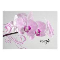 Pink Orchid Elegance Wedding RSVP Response Card