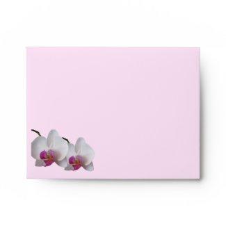 Pink Orchid Envelope envelope