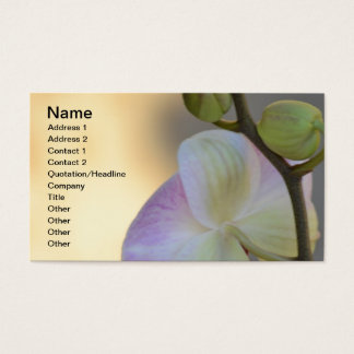 Pink Orchid Expression Business Card