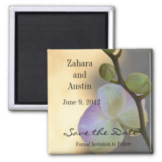 Pink Orchid Expression Save the Date Magnet