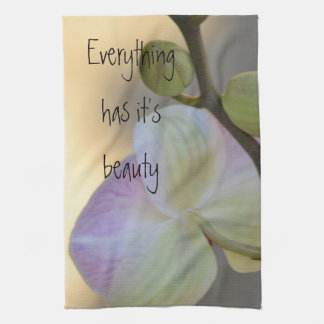 Pink Orchid Expression Towel