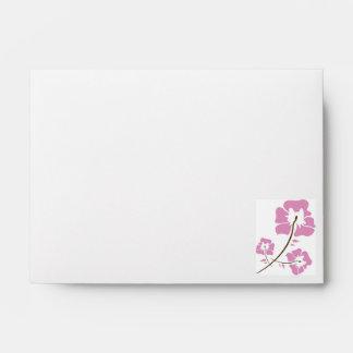 Pink Orchid Flower Envelope