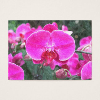 Pink orchid flower, floral photography business card