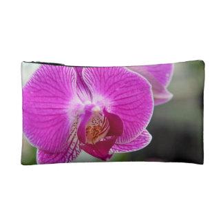 Pink Orchid Flower Makeup Bag
