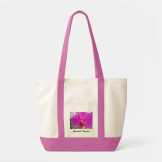 pink orchid flower,pink tote bag