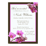 Pink Orchid Flowers Bridal Shower Card