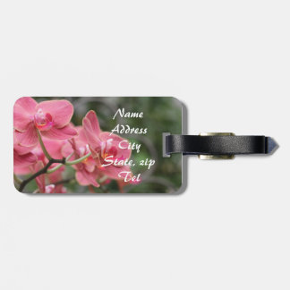 Pink Orchid flowers luggage tag Tag For Bags