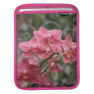 Pink Orchid flowers Sleeve For iPads