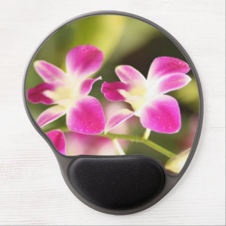 Pink orchid gel mouse pad