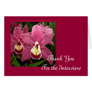 Pink Orchid Interview Thank You Card