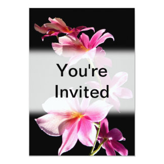 """Pink Orchid. 5"""" X 7"""" Invitation Card"""