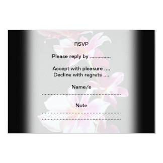 """Pink Orchid. 3.5"""" X 5"""" Invitation Card"""