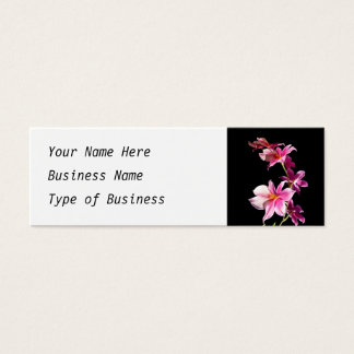 Pink Orchid. Mini Business Card