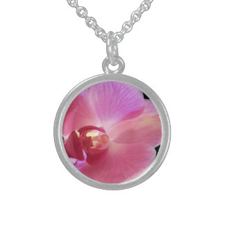 Pink Orchid Pendant