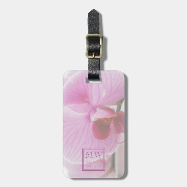 Pink Orchid Photo Personalized
