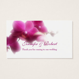 "Pink Orchid Place Card (3.5"" x 2.0"", 100 pack)"