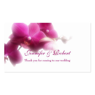 "Pink Orchid Place Card (3.5"" x 2.0"", 100 pack) Business Card"