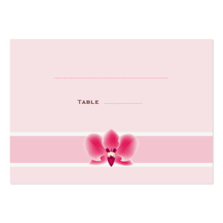 Pink Orchid Place Cards Large Business Cards (Pack Of 100)