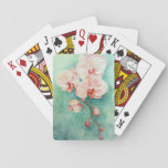 "Pink Orchid Playing Cards<br><div class=""desc"">This original artwork is a watercolor of pink orchids. This is colorful and unique.</div>"