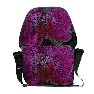 Pink Orchid Rickshaw Messenger Bag