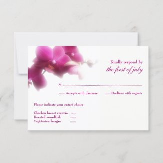 Pink Orchid RSVP Card