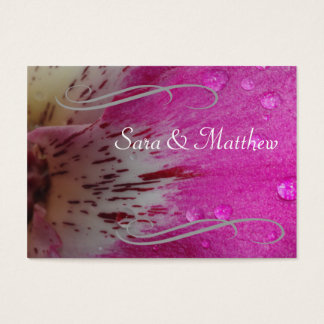 Pink Orchid Save the Date Business Card