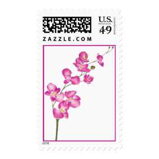 Pink Orchid Stamp