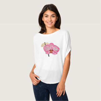 Pink orchid tee shirt