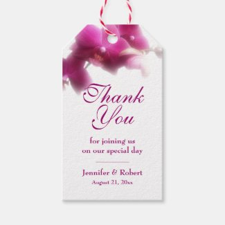 Pink Orchid Thank You Gift Tag