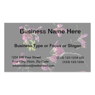 pink orchid tree branches black business card