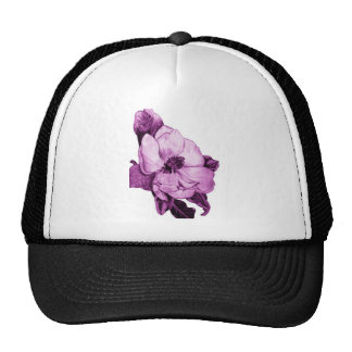 Pink orchid trucker hat