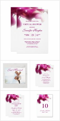 Pink Orchid Wedding Collection